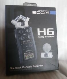 Zoom H6 Multitrack Recorder with accessories + software, Excellent condition