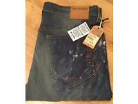 Brand new with tags authentic hand painted men's True Religion jeans. Waist 34