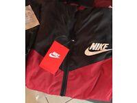 NEW Nike Windrunner Jacket Red/Black Size L