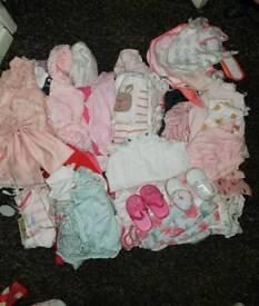 Baby girl clothes bundle.