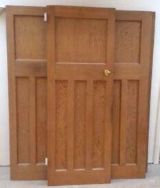 Solid panelled pine doors x 6