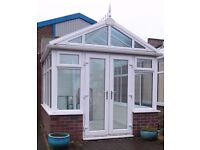 Gable Fronted Conservatory with Glass Roof 3 m x 3 m