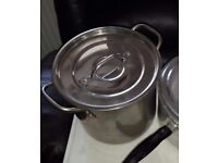Large catering deep stock/boiling pot
