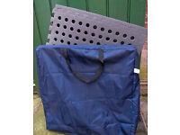 4 interlocking awning matting tiles with bag