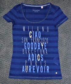 ESPRIT - Blue women's t-shirt with print