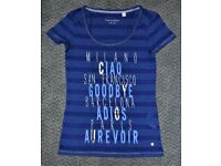 ESPRIT - Blue women's t-shirt with print