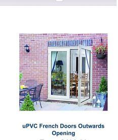 WICKES WHITE PVCu 5' FRENCH DOORS BRAND NEW