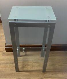 Side Tables (3) Glass/ silver/ chrome for lounge/ living room/hallway/bedside