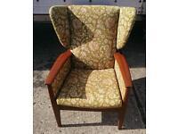 Green Parker knoll arm chair