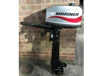 Mariner 4HP Sailmate Long Shaft Outboard Engine for Fishing Boat Dinghy Tender. 2004.Excellent Cond