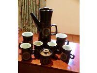 1960 Denby coffee pot set