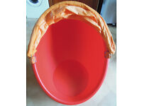 Ikea Egg Chair Red and Yellow