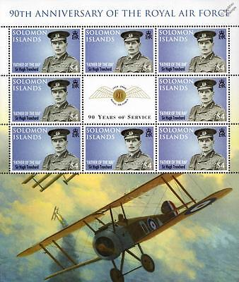 SIR HUGH TRENCHARD (Father of the RAF) WWI Sopwith Camel Aircraft Stamp Sheet