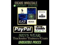 (OSCARS) TRACKSUITS JACKETS JUMPERS T SHIRTS HOODYS BODY-WARMERS TRAINERS