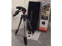 Brand New Manfrotto Compact Advanced Camera Tripod, 3-Way Head, Carry Bag, New in Box.