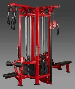 NEW eSPORT es-184 SIGNATURE line 4 Stack with dual independent pulleys on ROW and LAT pull down