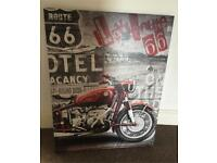 Large Route 66 canvas