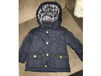 Junior j ( jasper conran) navy boys coat 6-9 months