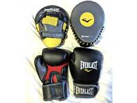 Everlast Training Gloves and Mitts Kit. Never used.