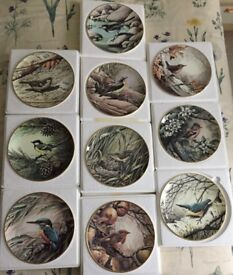 RSPB BIRDS WEDGWOOD FINE BONE CHINA PLATE FULL CENTENARY COLLECTION (10) PERFECT CONDITION