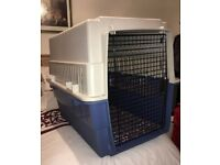 XXL HEAVY DUTY DOG CRATE BOUGHT IN USA. RIGID BODY. AIRLINE APPROVED