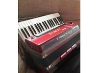 Elmat midi accordion, no reeds very light weight transicord electronic