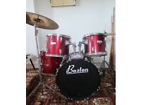 Boston 5 Piece Drum Kit w/ Planet Z Ride & Boston Hi-Hats & Crash