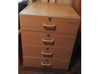 FREESTANDING OFFICE WOODEN DRAWER UNIT (Set of Drawers)
