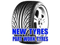 NEW AND PART WORN TYRES - HUGE SELECTION
