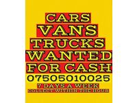 Cars trucks vans wanted for cash
