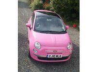 Pink Fiat 500 Dualogic Gear box