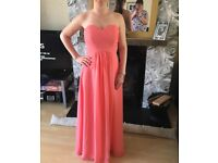 Elegant Coral Occasion Dress size 10