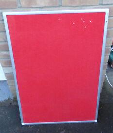 Red notice board | pin board | Cork board