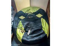 Gaming Beanbag Bean Bag Green Large Massage Settings speakers