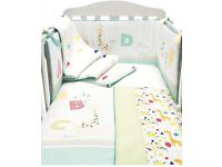 Mothercare 'I love sunshine' cot bedding, curtains and lampshade