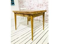 Folding Dining Table Extendable Mid-Century Rustic Modern - Free Delivery