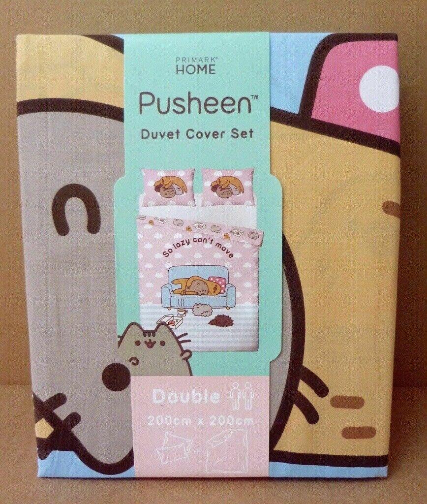 Pusheen the Cat So Lazy Duvet Cover Set Double 200cm x 200cm New