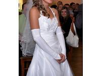 wedding dress. size 6 - 8 plus long wedding veil