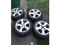 Oz racing alloys with pirelli and yokohama tyres 195/50 r 15