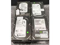 10 x Hard Drives HDD Job Lot Various Makes 250GB SATA 3.5 PC Computer Desktop CCTV