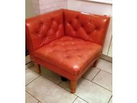 Leather chesterfield type chair