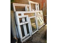 JOB LOT OF 6 USED DOUBLE GLAZED WINDOWS