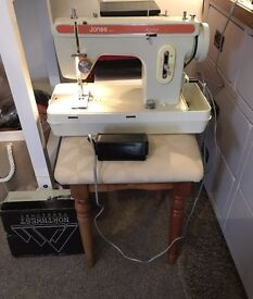 JONES (BROTHER) 671-2 ALL METAL ELECTRIC SEWING MACHINE STRAIGHT/DARN/ZIGZAG