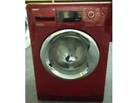 Red Beko 9kg,1400 spin washing machine. Model WMB91442LR