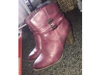 Women's purple boots