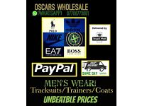 ( OSCARS ) TRACKSUITS JUMPERS JACKETS T SHIRTS WHOLESALE ONLY !!!!