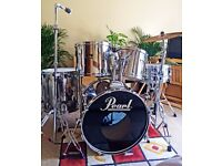 Pearl Export Chrome Drum Kit in Great Shape - Fantastic Value for Money