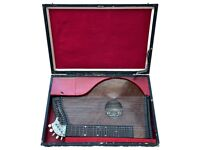 A F KOCHENDORFER for LEWIS EDWARD MASON - ANTIQUE GERMAN ZITHER GUITAR/HARP CASED