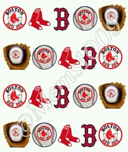 Boston Red Sox Nail Art water decals Free shipping! Baseball nail decals!