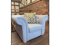 Chesterfield armchair grey